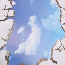 3D Blue Sky Broken Ceiling Removable Wall Stickers Art Vinyl Decals Decors Hot