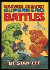 Fireside Marvel's Greatest Superhero Battles Hardcover HC HB Rare Stan Lee OOP