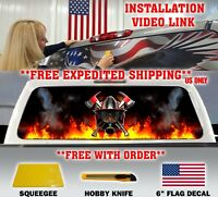 FIREFIGHTER / FIRE DEPT. FIRE RESCUE MALTESE CROSS BACK WINDOW DECAL TINT