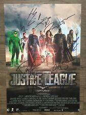 JUSTICE LEAGUE (2017) signed 12X17 photo~AFFLECK~GADOT~CAVILL ~10 sigs ~JSA/LOA!