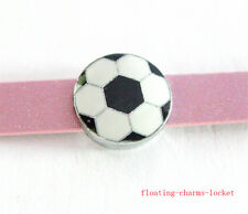 5pcs 8mm Soccer  Slider Charms Fit DIY Name Bracelet/Phone strip/ SL413