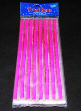 Pink Verticle Stripes On Clear Cello Bags 20 count - Free Shipping
