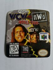 WCW vs nWo world tour Nintendo 64 n64 replacement label sticker precut