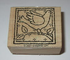 Bird Branch Rubber Stamp Perched Stampin' Up! Tweet Wood Mounted