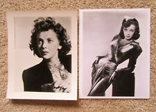 IDA LUPINO ORIGINAL 1940's SET OF 2BW PHOTO STILLS EX