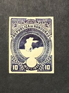 HONDURAS 1892-93 XF MNH 10c EMBOSSED STATIONARY ENVELOPE Cut Square  (W1)