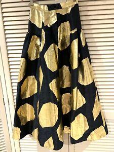 "Versatile GORMAN ""Poseidon"" Raw Silk skirt * size 6"