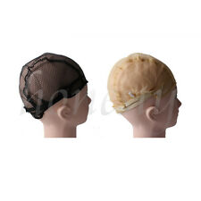 1/2pcs Wig Cap for Making Wigs With Adjustable Straps Breathable Mesh Weaving Black 1pc