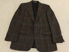 Polo Ralph Lauren Blazer Jacket Sport Coat Houndstooth Plaid Tweed Men's 42R