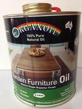 Organoil Garden Furniture Oil & External Oil CLEAR 2 litre