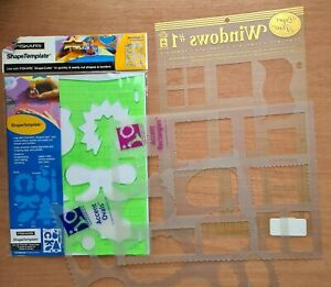 Fiskars Shape Template and 3 with Drifts Borders For Art Craft
