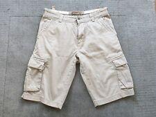 White Stuff Mens Cotton Beige Cargo Combat Shorts Size 32