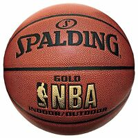 SPALDING JAPAN Basketball NBA GOLD BALL Size:7 74-077J