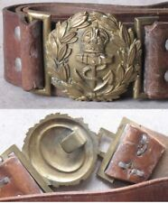 ANTIQUE BRITISH ROYAL BELT & BUCKLE / NAVY OFFICER / WWI