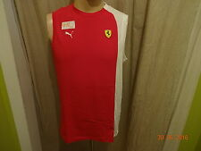 "Ferrari ""VETTEL"" Original Puma Motorsport Formel1 Achsel Shirt/ Jersey Gr.M Neu"