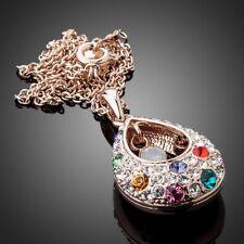 Peacock Tears 18K GP Multicolour Made With Swarovski Crystal Pendant Necklace