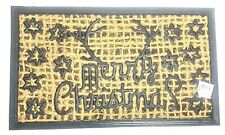 Christmas Door Mat Rug Merry Christmas Reindeer Rudolph Hessian Non Slip New.