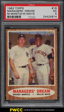 1962 Topps Mickey Mantle & Willie Mays MANAGER'S DREAM #18 PSA 5 EX (PWCC)