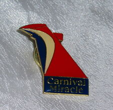 CARNIVAL CRUISE LINES MIRACLE Ship Platinum Diamond VIP lapel / hat pin