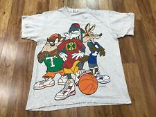 Large Vtg 1993 Looney Tunes Taz Bugs Ballers 90s anvil Single Stitch T-shirt Usa