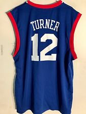 190d3e8ba Adidas NBA Jersey Philadelphia 76ers Turner Blue sz XL