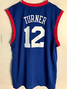 Adidas NBA Jersey Philadelphia 76ers Turner Blue sz XL