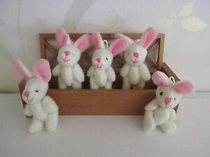 Mini Soft Spring Bunnies Garden Hunt Party Bags/Gift/Wedding Favor/Baby Shower
