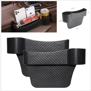 2Pcs Storage Box Organizer Universal Fit For Car Left And Right Side Seat Gap