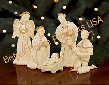 Lenox Innocence Nativity 6 Piece Holy Family Angel Shephard Lamb Set New In Box