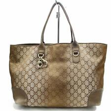 Authentic Gucci Tote Bag  Metallic Canvas 117143