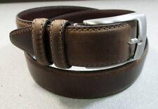 Johnston /& Murphy Double Stitch Belt 42 - Dark Brown