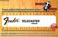 Fender Telecaster Thinline Restauración Calcomanías Tobogán