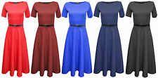 Unbranded Polyester Short Sleeve Petite Dresses for Women