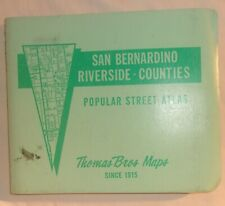 VINTAGE THOMAS GUIDE SAN BERNARDINO RIVERSIDE COUNTIES CALIFORNIA 1979-80