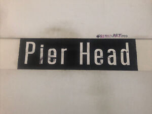 "Liverpool 711 Linen Destination Bus Blind 31""- Pier Head Roll End"