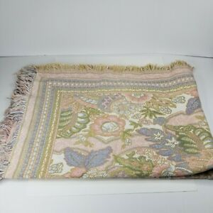 """Goodwin Weavers 100% Cotton Floral Reversible Tapestry Throw Blanket 45x66"""""""