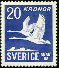 Sweden 1942 Flying Swans Air Post Stamp Scott C8c Mnh (*) Cv$140 0A