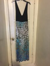 TOTO Collection SLEEVELESS Multicolored MAXI DRESS SIZE 2XL