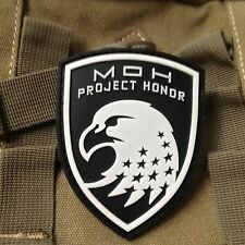 Medal of Honor : WARFIGHTER MOH Project Honor PVC Rubber PATCH /WHITE