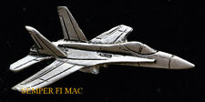 F-18 HORNET PEWTER HAT LAPEL PIN MADE IN US NAVY MARINES USS CAG MAW WING GIFT
