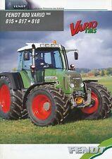 Fendt 800 Vario Prospekt Trecker 10/03 brochure Broschüre 2003 Traktor Schlepper