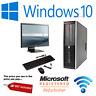 HP 8200 SFF Quad Core i5 i7 Computer Desktop PC 16GB RAM HDD SSD Monitor Bundle