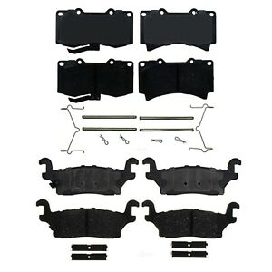 Front & Rear Ceramic Brake Pad Set Kit ACDelco Pro For Hummer H3 06-10 H3T 09-10