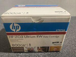 3 x New HP LTO 3 Ultrium 800GB Data Cartridge C7973A