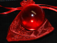 Huge Transparent Boulder 1 1/2 Red Color Clearie Marble Free Marble Bag