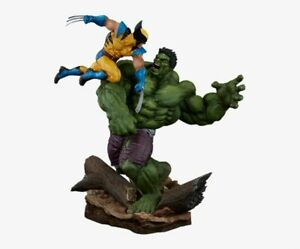 Exclusive Sideshow Hulk vs Wolverine Diorama Statue Maquette Marvel X-Men MIB