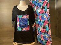 Secret Treasures Women's HELLO SUMMER Pajamas Top & Capris NWT REGULAR / PLUS