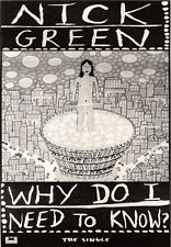 """NEWSPAPER CLIPPING/ADVERT 30/4/94PGN38 10X7"""" NICK GREEN : WHY DO I NEED TO KNOW"""