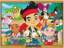 "Jake And The Neverland Pirates A4 Personalised Wafer Cake Topper 7.5"" By 10"""