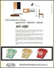 FACE STANDARD NEW STILE TELEFONO COLORATO ARREDAMENTI DESIGN MILANO 1957